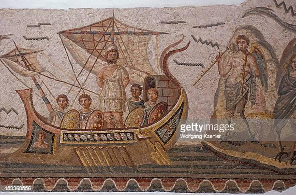 Tunisia Tunis Bardo Museum Roman Mosaic Odysseus On Ship