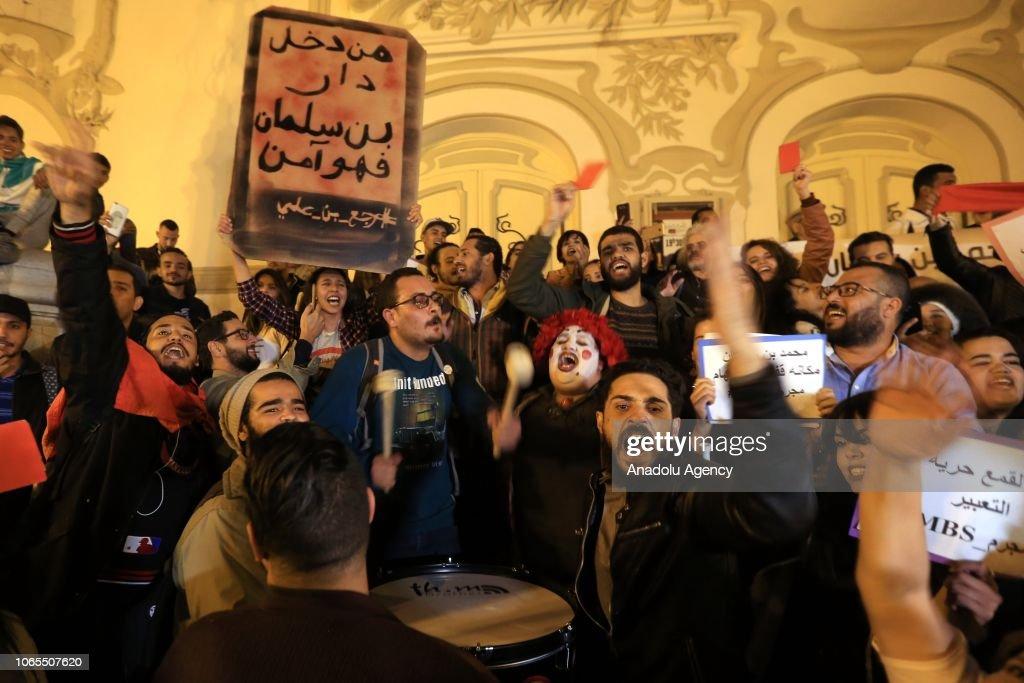 Tunisians protest against Saudi Crown prince visit  : News Photo