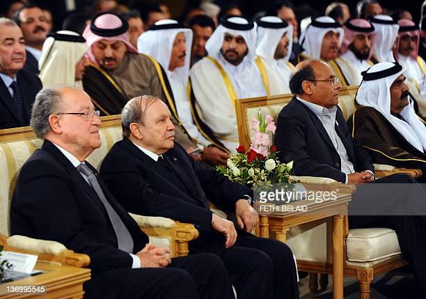 Tunisian Assembly President Mustapha Ben Jaafar , Algerian President Algerian President Abdelaziz Bouteflika, Tunisian President Moncef Marzouki and...