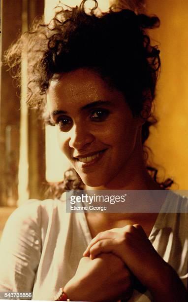 Tunisian born Actress Amina Annabi on the set of 'La Nuit sacrée' directed by Nicolas Klotz based on the Tahar Ben Jelloun novel of the same name