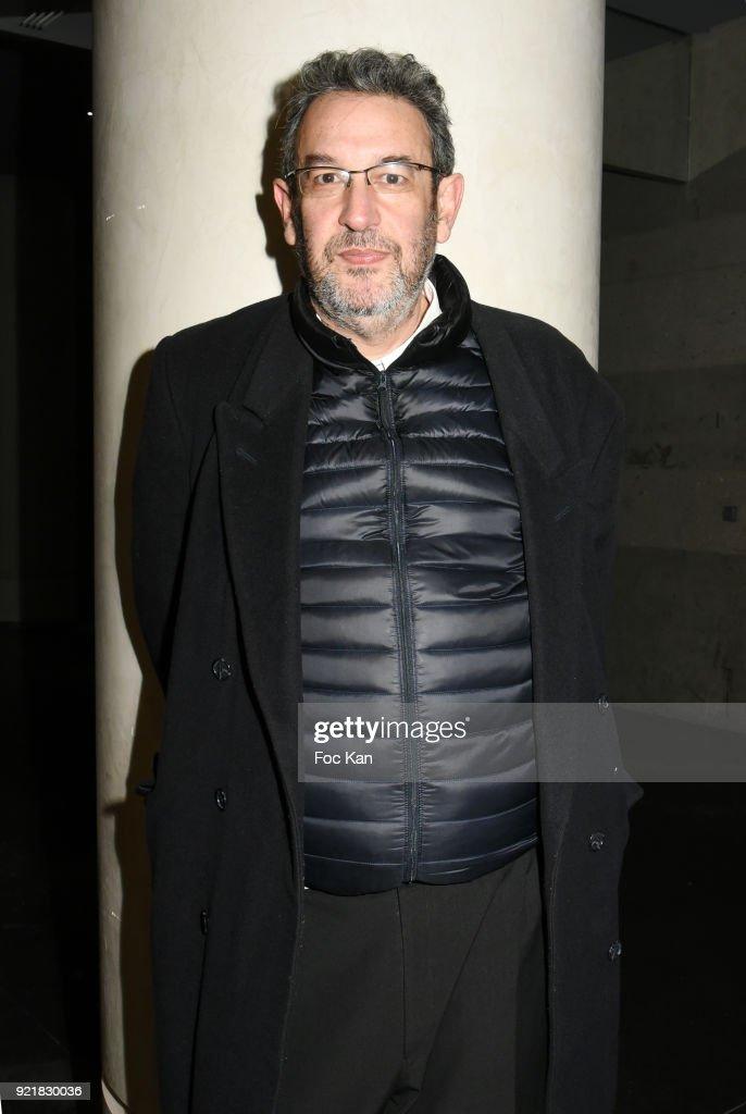 Tunisian director Mehdi Ben Attia attends 'L'Amour Des Hommes' : Premiere At Institut du Monde Arabe on February 20, 2018 in Paris, France.