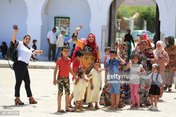 Tunisian families bring their children for annual circumcision feast tradition at Sidi Sahab Zawiya and Madrasa ahead of Laylat alQadr in Kairouan...
