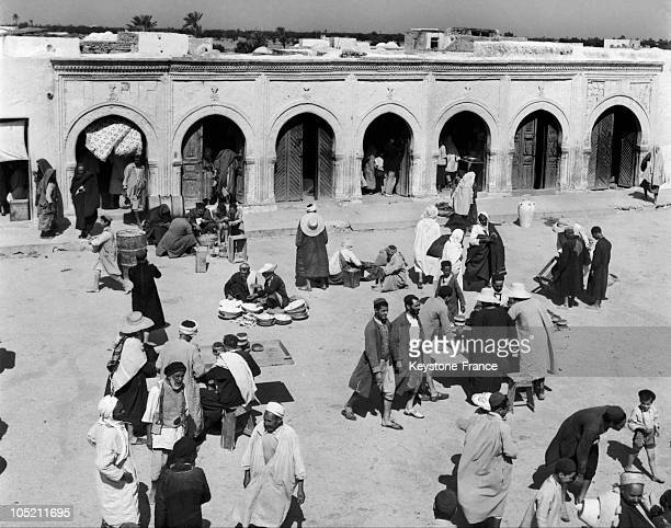 Tunisian Jews On The Market Place In Djerba Around The 1950'S1970'S