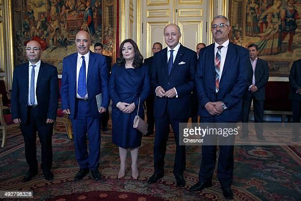 Tunisian lawyer Fadhel Mahfoudh, Abdessatar Ben Moussa, Head of Tunisan Human Rights League , Wided Bouchamaoui, Tunisian Confederation of Industry,...