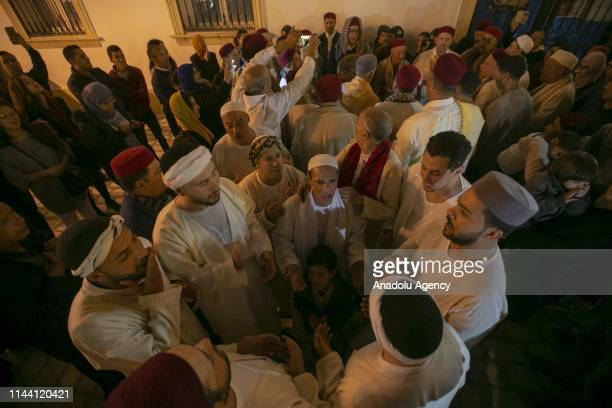 Tunisian Muslims perform invocation to mark Islamic holy month of Ramadan in Tunis Tunisia on May 17 2019