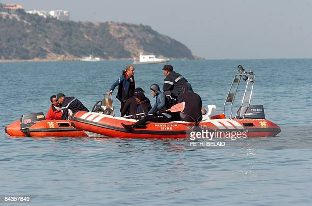 Tunisian national cost guards search for Tunisan clandestine immigrants who survived when their boat capsized off the cost of Tunisia on Juanary 19...