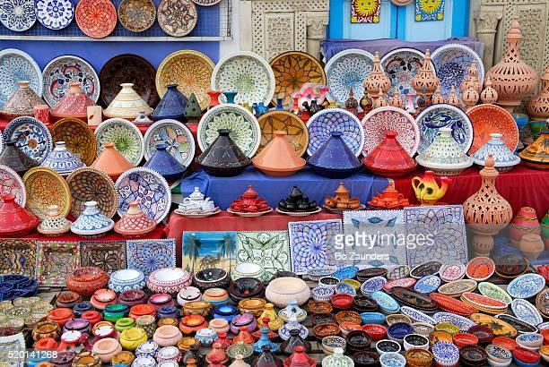 tunisian pottery - kairwan stock pictures, royalty-free photos & images