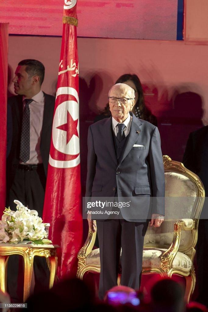 Tunisian President Beji Caid Essebsi... : News Photo