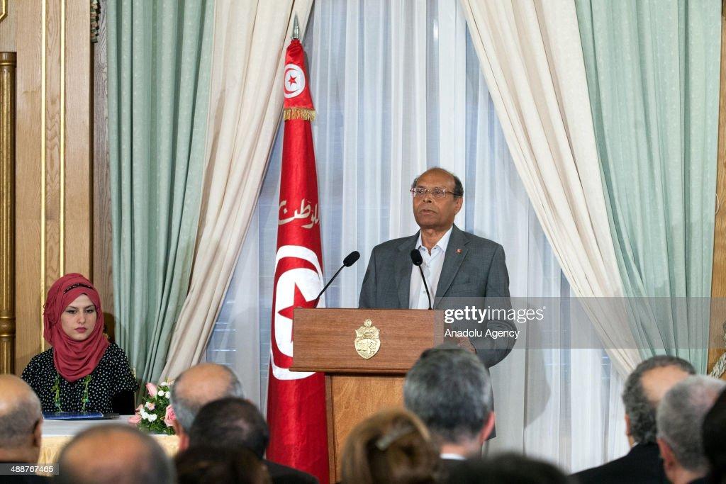 Tunisian President Moncef Mazouki : News Photo