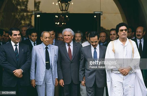 Tunisian President Zine alAbidine Ben Ali King Hassan II of Morocco Algerian President Chadli Bendjedid Mauritanian President Maaouya Ould sid' Ahmed...