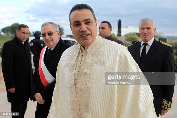 Tunisian Prime Minister Mahdi Juma arrives to the Malik ibn Anas Mosque to attend the ceremony for the 1444th anniversary for the celebration of...