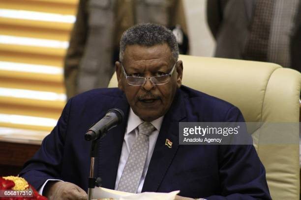 Tunisian Prime Minister Youssef Chahed and Sudanese First VicePresident and Prime Minister Bakri Hassan Saleh hold a interdelegation meeting at...