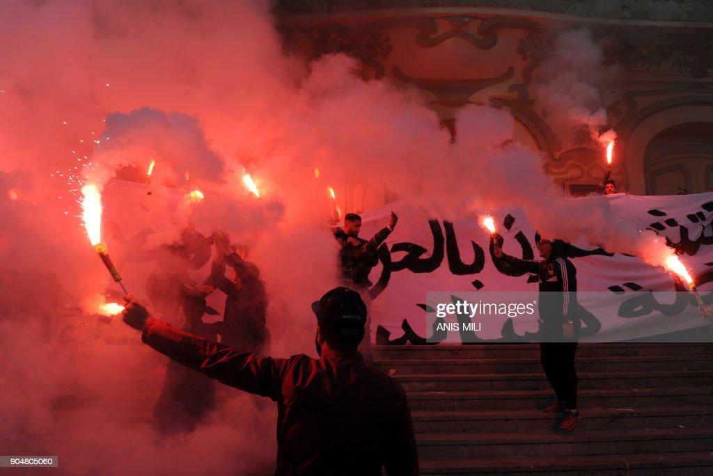 TUNISIA-DEMO-SOCIAL : News Photo