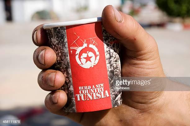 révolution tunisien - drapeau tunisien photos et images de collection