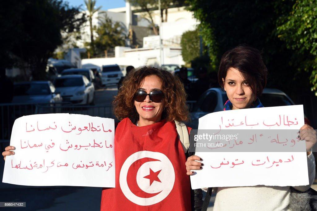 TUNISIA-UAE-WOMEN-TRAVEL-DIPLOMACY : News Photo