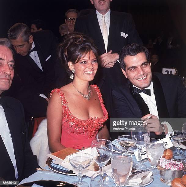 Tunisianborn Italian actor Claudia Cardinale with Egyptian actor Omar Sharif at the Golden Globe Awards held at the Cocoanut Grove nightclub Los...