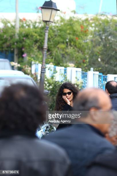 TunisianItalian model Afef Jnifen attends the funeral ceremony of Tunisian fashion designer Azzedine Alaia who died in aged 77 in Paris at the Sidi...