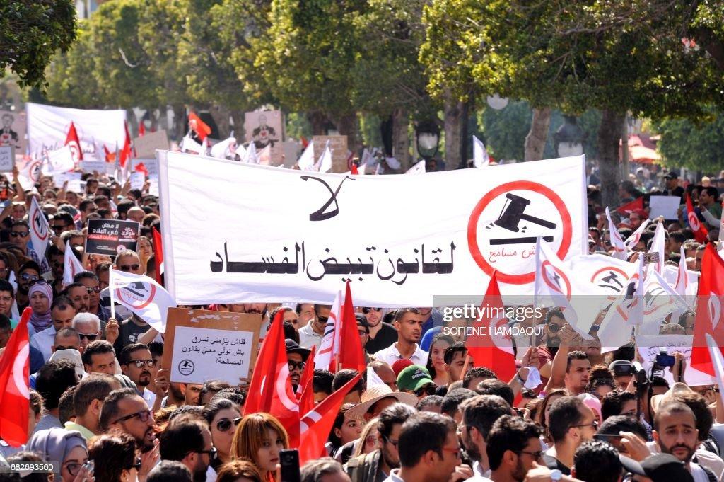 TUNISIA-CORRUPTION-PROTEST : News Photo