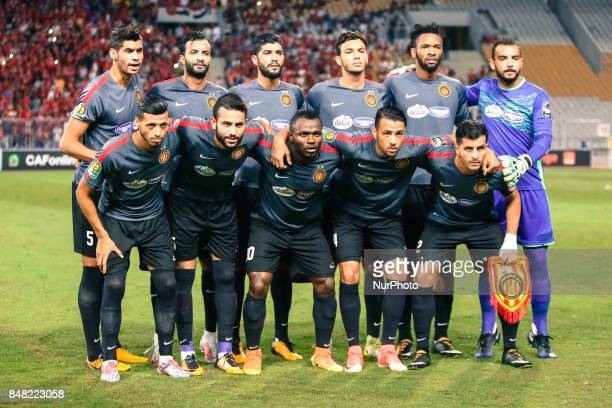 Tunisia's Esperance of Tunis Before start the CAF Champions League quarterfinal firstleg football match between Egypt's AlAhly and Tunisia's...