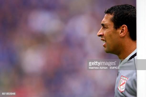 Tunisia's goalkeeper Ali Boumnijel