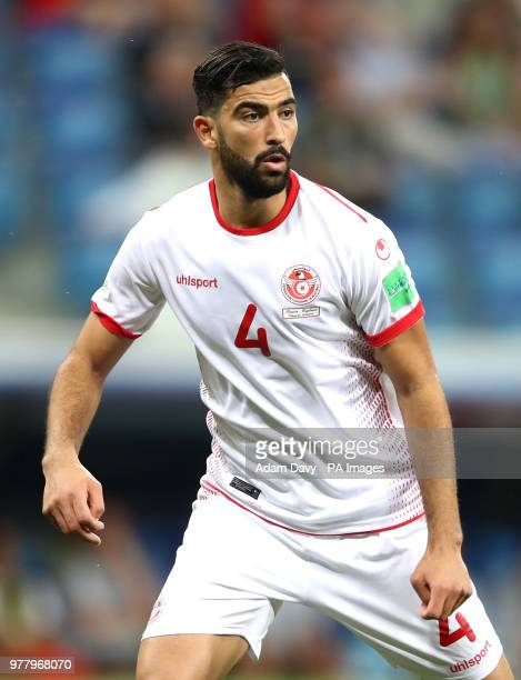 Tunisia's Yassine Meriah during the FIFA World Cup Group G match at The Volgograd Arena Volgograd