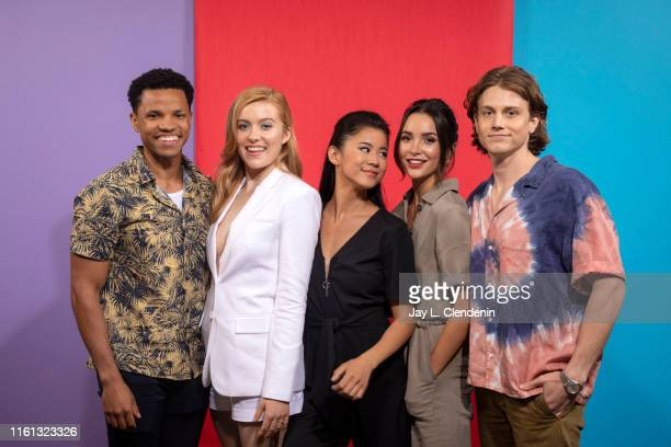 Tunji Kasim Kennedy McMann Leah Lewis Maddison Jaizani and Alex Saxon of 'Nancy Drew' are photographed for Los Angeles Times at ComicCon...