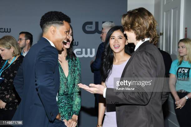 Tunji Kasim Maddison Jaizani Leah Lewis and Alex Saxon of Nancy Drew attend the The CW Network 2019 Upfronts at New York City Center on May 16 2019...
