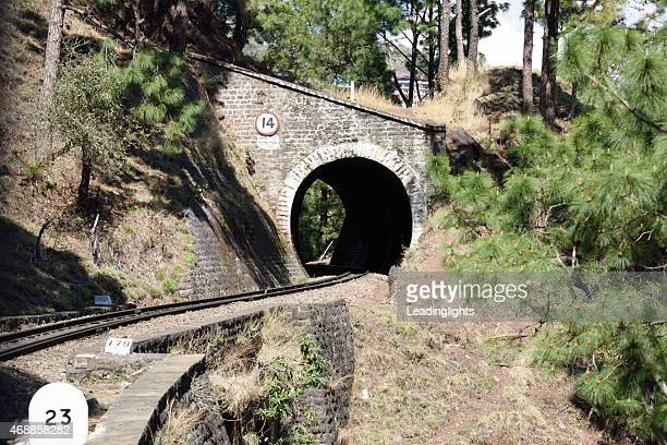 tunnel 14 on the kalka shimla railway in india - shimla stock pictures, royalty-free photos & images