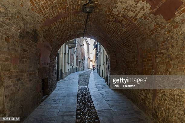 Tunnel in a street in central Pavia
