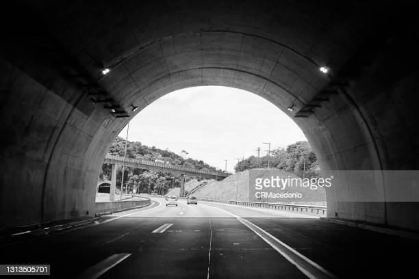 tunnel in black and white - crmacedonio bildbanksfoton och bilder