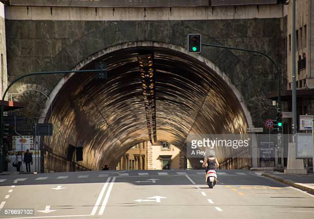 Tunnel in late afternoon light