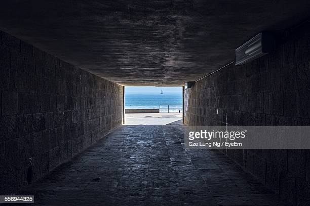 Tunnel Leading Towards Beach