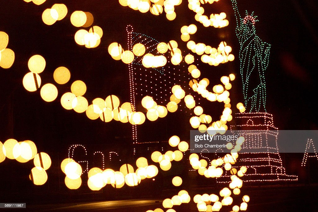 Tunnel Of Lights At The End Of The Griffith Park Holiday Light Festival  Frames New Addition