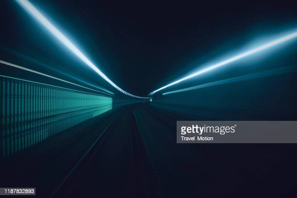 tunnel speed motion light trails - speed stock pictures, royalty-free photos & images