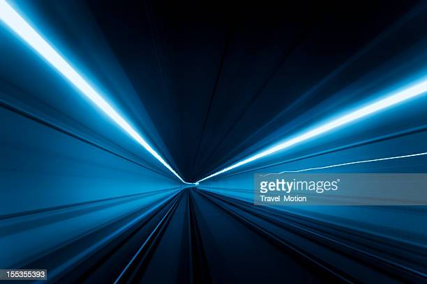 tunnel speed motion light trails - abstract backgrounds stock pictures, royalty-free photos & images