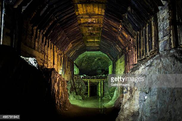 A tunnel that is part of Nazi underground complex on October 20 2015 In Walbrzych Poland The mysterious underground Nazi city Riese where it is...