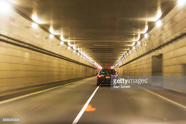 tunnel  traffic, lincoln tunnel - lincoln tunnel stock photos and pictures