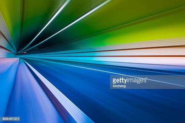 tunnel traffic, time warp - vanishing point stock pictures, royalty-free photos & images