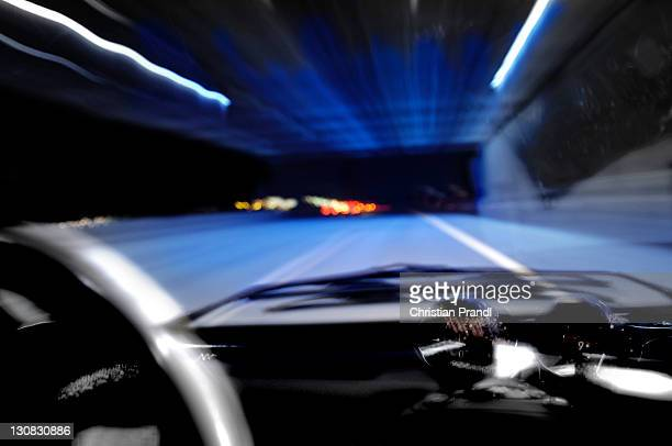 Tunnel View of a drunk or sleepy driver