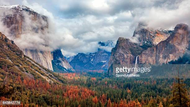 tunnel view of yosemite national park, california, usa - yosemite valley stock photos and pictures