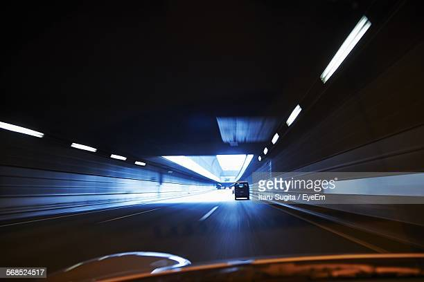 Tunnel Viewed Through Car Point Of View