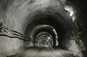Tunnel with gravel road