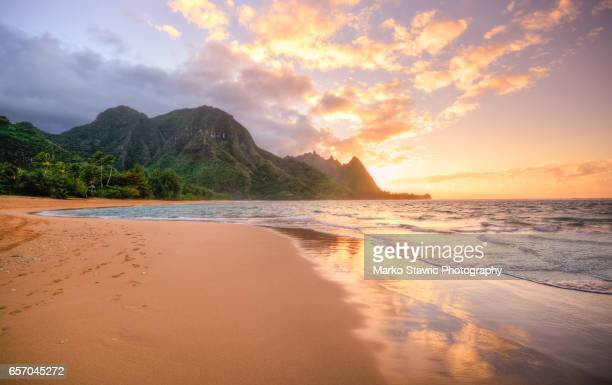 Tunnels Beach Kauai Sunset