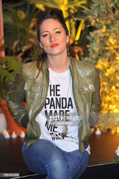 Tunstall attends the special ceremony to launch the countdown to WWF's Earth Hour at Westfield on January 6, 2012 in London, England.