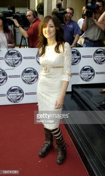 KT Tunstall during 2005 Nationwide Mercury Music Prize at Grosvenor House in London Great Britain