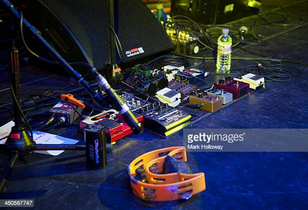 Tunstall Guitar Loop Pedals On Stage During Sound Check At The Dome November 10 2013