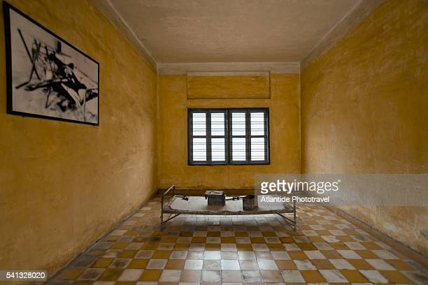 tuol sleng genocide museum, torture chamber - killing fields stock pictures, royalty-free photos & images
