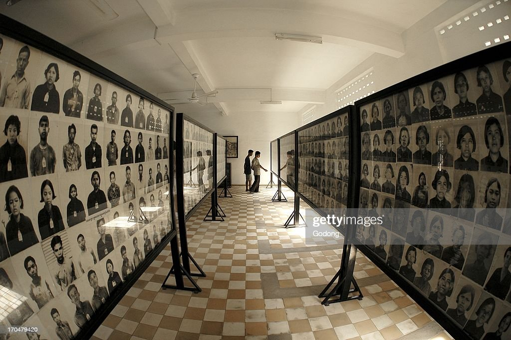 Tuol Sleng red khmer genocide museum in Phnom Penh, Phnom Penh, Cambodia. : News Photo