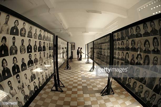 Tuol Sleng red khmer genocide museum in Phnom Penh Phnom Penh Cambodia