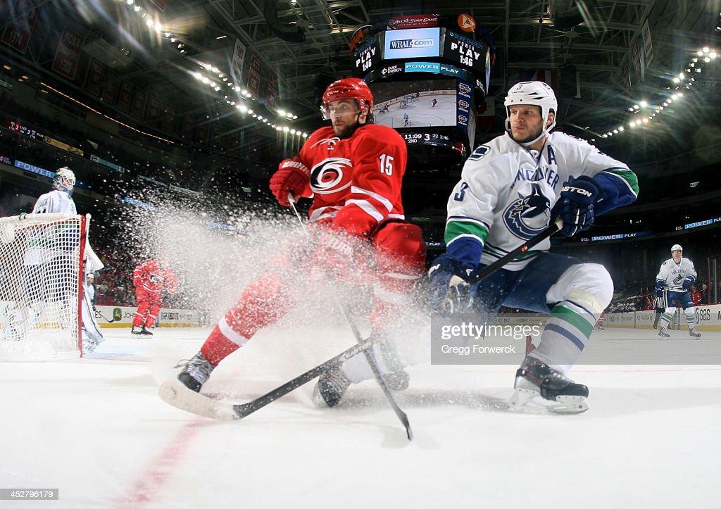 Vancouver Canucks v Carolina Hurricanes
